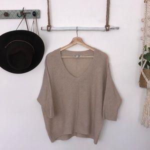 Autumn cashmere 100% oversized lose knit Creme